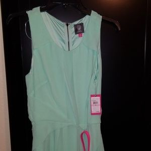 Vince Camuto Mint Dress w Pink Belt